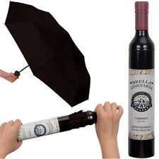 NEW Brella Vineyards Cabernet Wine Bottle Hidden Umbrella Gift - Black Color