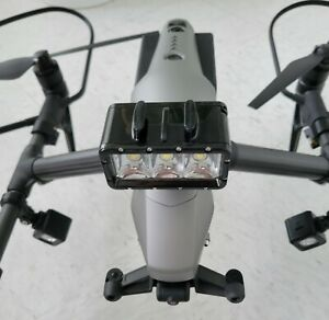 DJI Inspire 2 - with Accessory Lighting and Top/Bottom and front Camera Mounting