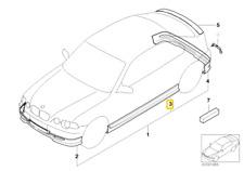 MODANATURA LONGARINA SOTTOPORTA SINISTRA -ORIGINALE- BMW 3 E46 Compact