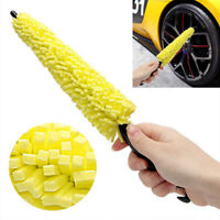 Plastic Sponge Wheel Tire Rim Scrub Brush Car Wash Washing Cleaning Tool New ~