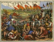 Battle of Legnica Poland 1241 Teutonic Knights Templar Mongols, 6x5 Inch Print