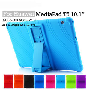 Silicone Stand Case Cover For Huawei MediaPad T3 10 9.6'' T5 10 M5 Lite 10.1''