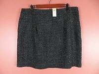 SK10035- NWT ANN TAYLOR Woman 29% Wool Pencil Skirt Pockets Sparkly Sz 16 $118