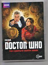 DOCTOR WHO eighth series (8) 5 discs slip case euc Tardis theme