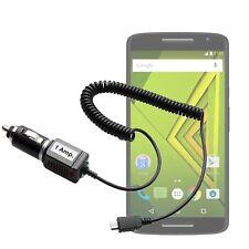 Auto KFZ Ladekabel f Motorola Moto X Play Lader Ladegerät Lade Kabel PKW LKW