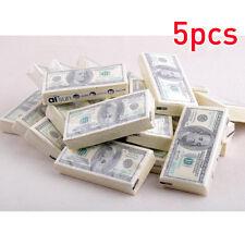 5X $100 Dollar Bill Napkins/Serviette/Tissue Joke Natural Comfort Paper