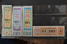 La chine 4 x Inner Mongolia Bilingual Cloth ration coupon Banknote paper money