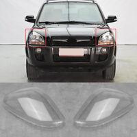 1 Pair Clear Headlamp Headlight Lens Cover For Hyundai Tucson 2005 - 2009 New