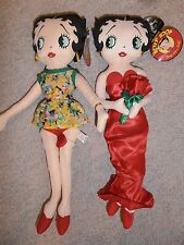 "New Lot 2 Collectable Betty Boop 17"" Stuffed Doll-Kellytoy Romance- Peace Loving"