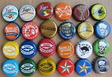 24 DIFFERENT MICRO CRAFT USED PLASTIC LINED BEER BOTTLE CAPS