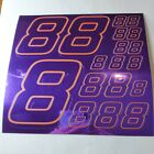 PURPLE CHROME /GOLD #8's Decal Sticker Sheet DEFECTS  1/8-1/10-1/12 RC Mo BoxD