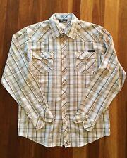 RIPCURL Men's Mustard Plaid LS Shirt Xlarge