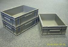 10 Nearly New Plastic Storage Crates Box Container 10L Grey