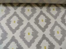 John Lewis Patagonia Smoke grey and yellow ikat fabric 3 mtrs