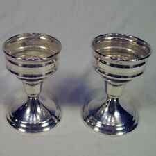 Matched Set 2 Newport Silverplate Candle Holders with Removable Cups POLISHED