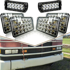 "4P 4x6"" Sealed Beam Led Headlight+36W 2P Spot Led Work Light Driving Fog Light"