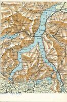 LAGO DI COMO – Lago Di Como Map Postcard Lake Como – Italy - udb