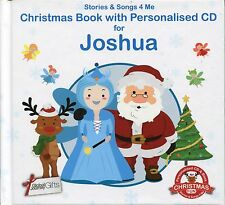 CHRISTMAS BOOK WITH PERSONALISED CD FOR JOSHUA - STORIES & SONGS 4 ME