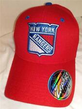 New York Rangers Mens Adult Sizes M/L-Xl Zephyr Red Stretch Fit Cap Hat