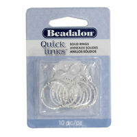 Beadalon® Large Glue-On Bails 10x23mm Silver Plated 3 pieces