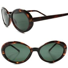 Old Stock Classic True Vintage 70s Fashion Womens Tortoise Round Oval Sunglasses