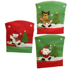 6 Pieces Christmas 3D Chair Back Cover Resuable Dinning Room Xmas Decor