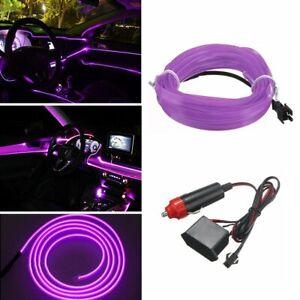 Purple LED Auto Car Interior Decorative Atmosphere Wire Strip Light Lamp 12V D