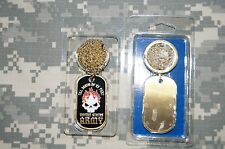 NEW Key Chain US Army-Till Death Do Us Part- Dog Tag with chain necklace - Brass
