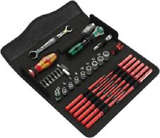 Wera INSULATED ELECTRICIANS TOOL KIT 35Pcs Screwdriver,Sockets, Spanners, Tester