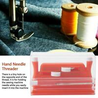 Red Needle Threader Insertion Applicator Handle Thread For Sewing Machine Sewing