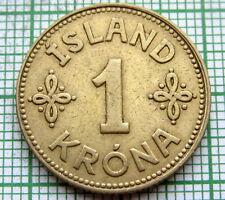 ICELAND CHRISTIAN X 1940 1 KRONE