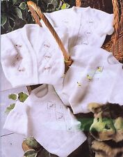"""BABY~PREMATURE~GIRL~CARDIGANS/SWEATERS~3 PLY~KNITTING PATTERN~SIZE 12-22""""(CB32)"""