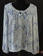 LAUNDRY- MAZARINE BLUE AND WHITE TOP- SZ M- NWT- MSRP $79