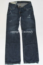 NWT! ABERCROMBIE & Fitch Mens Vintage Destroyed A&F Slim Straight Jeans 33x32
