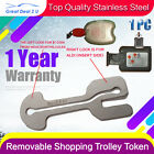 Universal Removable Shopping Trolley Token Coin Slot ALDI WOOLWORTHS COLES 1PC