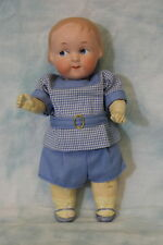 "6-1/4"" Antique German 210 Bisque Googly eyed Doll, closed mouth, toddler body"