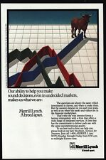 1984 MERRILL LYNCH Investment Firm - BULL - A Breed Apart - VINTAGE AD