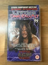 ECW Wrestling Video * LIVING DANGEROUSLY '99* WCW WWF VHS Rare Collectable Tape
