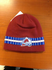 BRAND NEW COLORADO AVALANCHE MAROON/WHITE/BLUE WINTER HAT NICE!