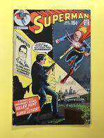 SUPERMAN #230  Killer Kent vs. Super Luthor! DC Superman 1970  Very Good+