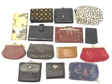 Mixed Estate Lot Vintage Ladies Clutch Purses Bally Cheetah Print Wallets Bags