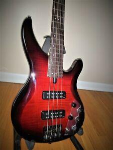 Yamaha TRBX604FM Bass Guitar - Dark Red Burst MINT CONDITION