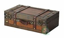 Vintage Suitcase For Men Women Old Fashioned Small Trunk Chest Antique Storage