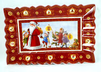 Villeroy & Boch Toy's Fantasy Snow Walk Rectangular Cake Plate Holiday