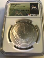 2014 Baseball HOF HALL FAME Proof Silver $1 - NGC MS70 MIAMI MARLINS