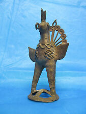 Antique Bronze Figurative Peacock Hindu Toy
