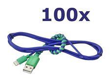 NEW 100-Lot Modal 4' Twist Lightning MFi USB Cable for Apple iPhone iPad Sync