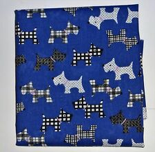 1 metre of polycotton with scottie dogs with black and white patterns on blue