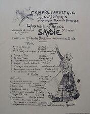 TRUCHET : QUAT Z' ARTS . LITHOGRAPHIE 1897 , PROGRAMMES ILLUSTRéS , MAINDRON