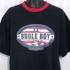 Bugle Boy 77 Mens T Shirt Vtg 90s Ringer Tee Eagle Black Size Large